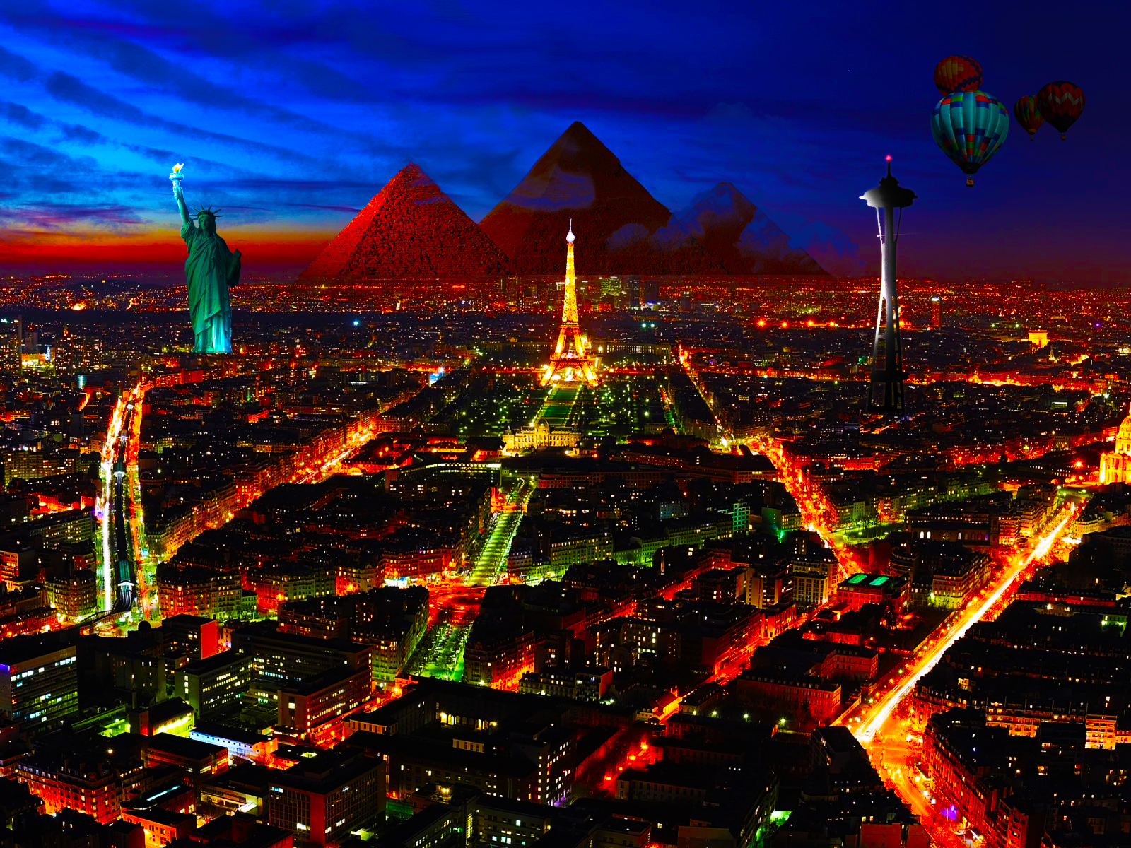Special City in Night wallpapers Special City in Night stock photos 1600x1200