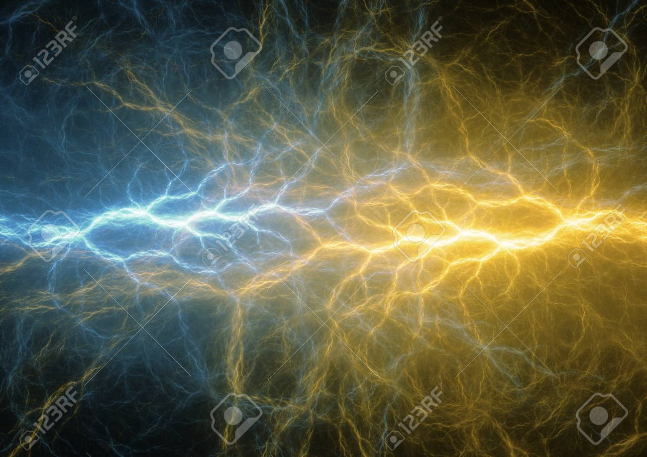 Blue And Golden Abstract Lightning Background Clash Of The 1300x918