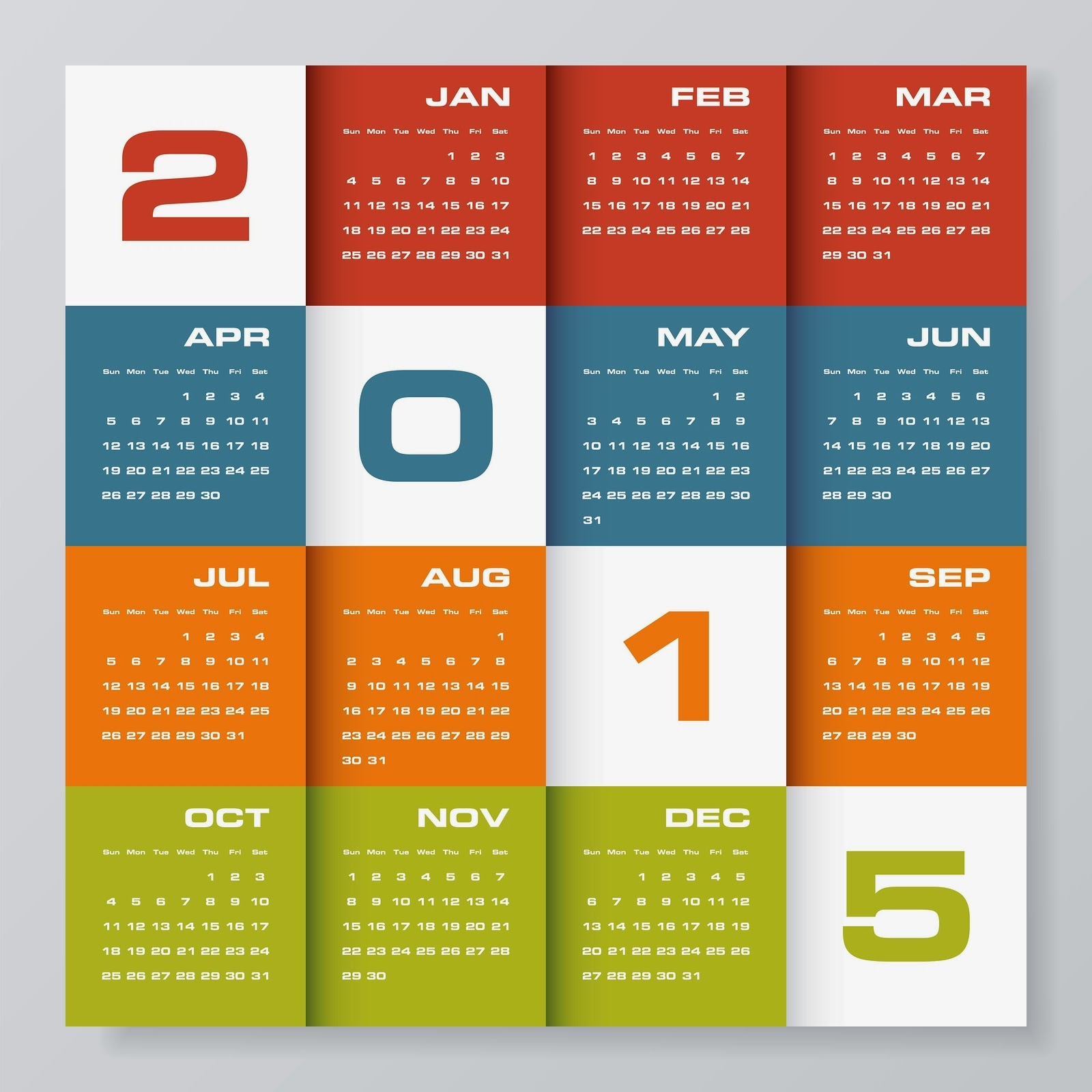 Cool stylish New Year 2015 Calenders download 1600x1600
