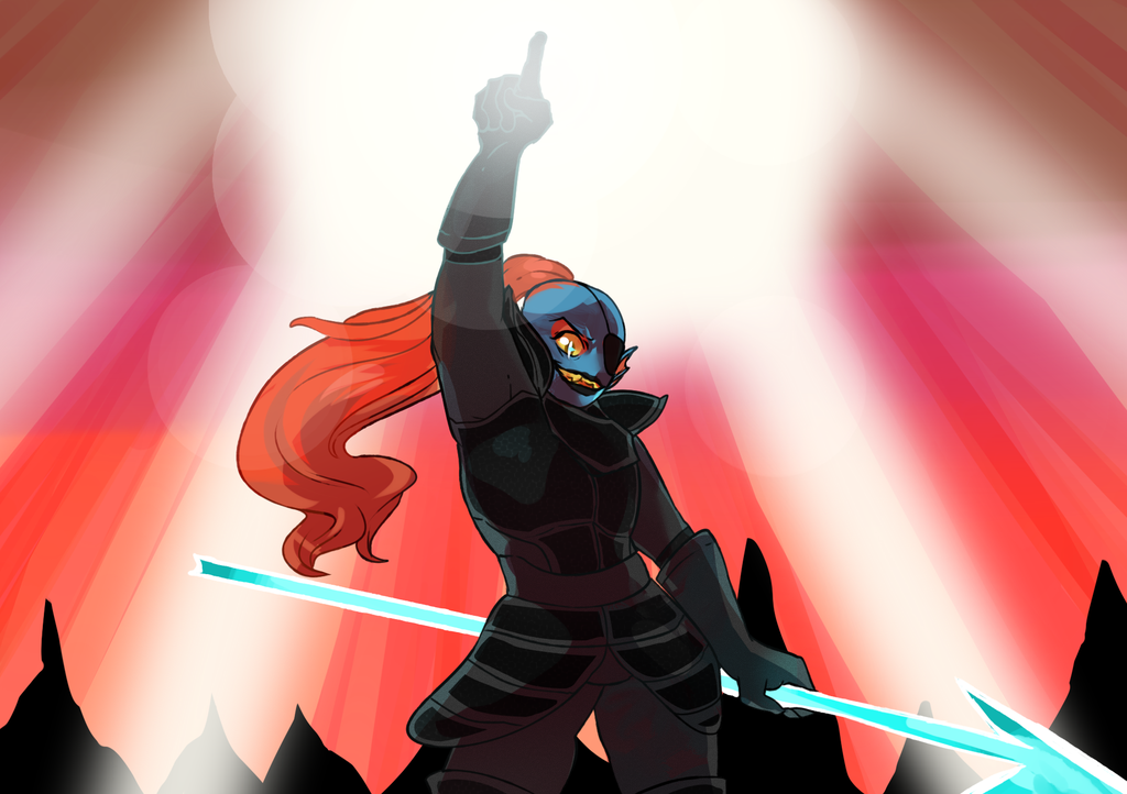 Free download undyne by starosis [1024x722] for your Desktop