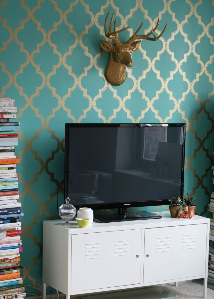 DIY removable statement wallpaper Available at Target and Urban 700x979