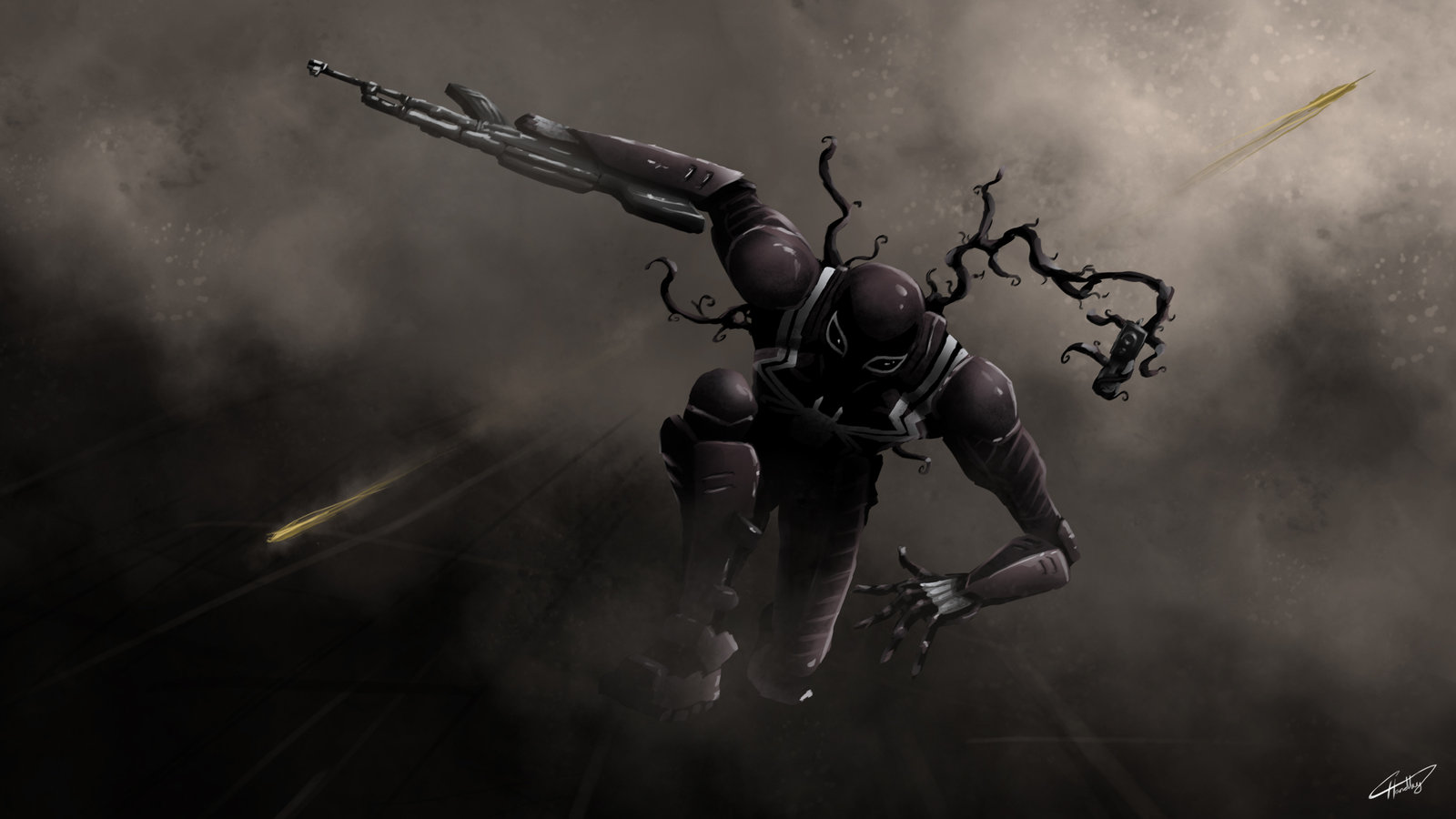 Agent Venom by iamherecozidraw 1600x900