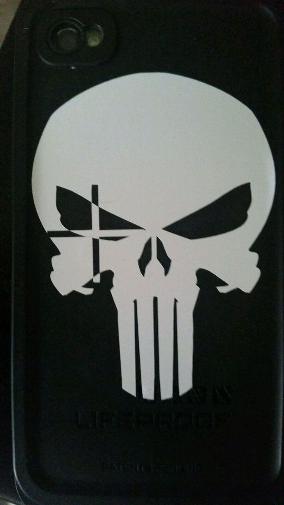 American Sniper Memorial Chris Kyle Craft Punisher White Sticker Vinly 563x1000