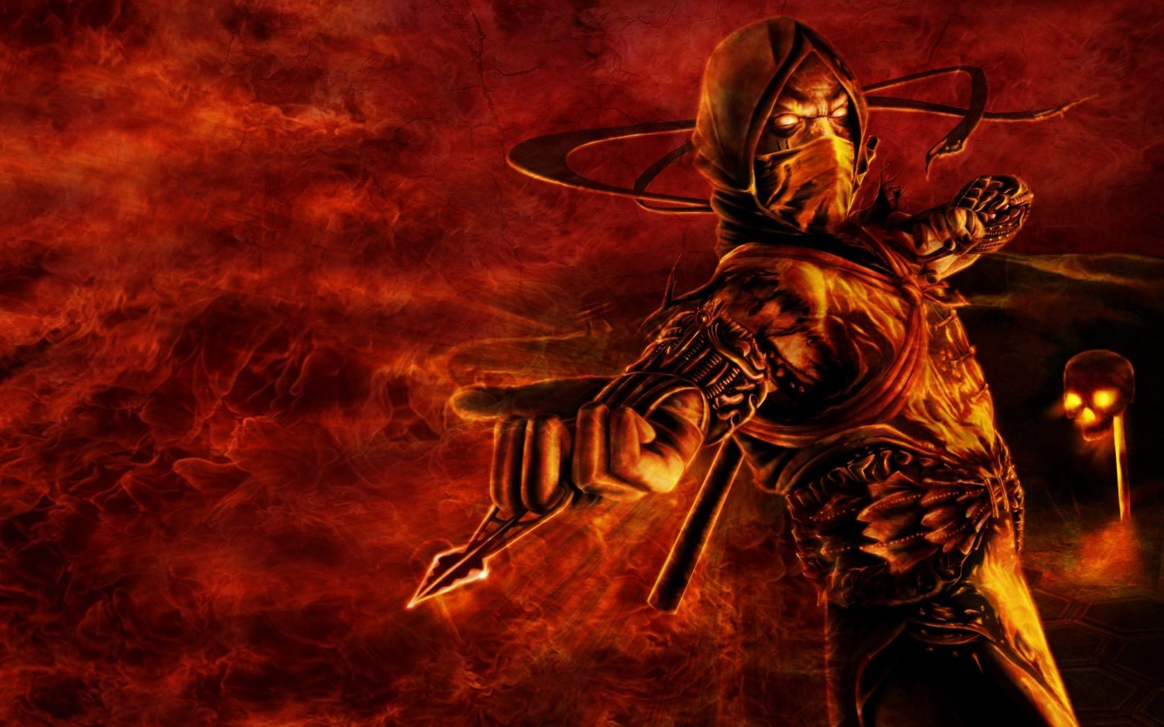 Pics Photos   Scorpion Mortal Kombat Wallpaper 1680x1050