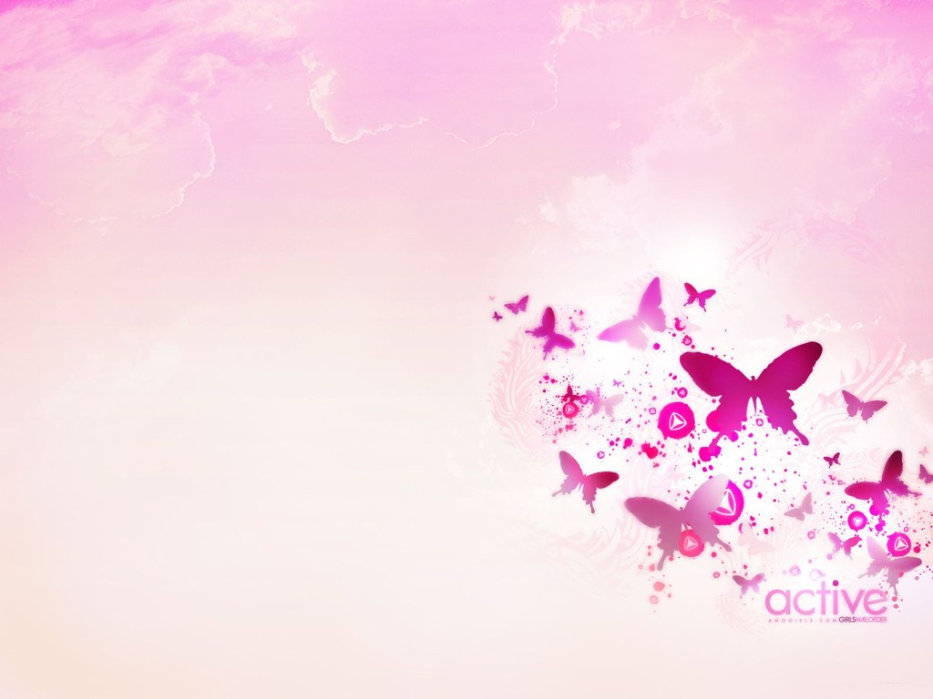 Pink Butterfly Wallpaper Hd Background   HD Wallpapers 1024x768