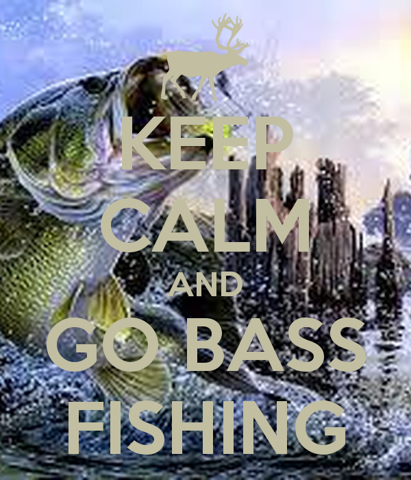 KEEP CALM AND GO BASS FISHING   KEEP CALM AND CARRY ON Image Generator 600x700