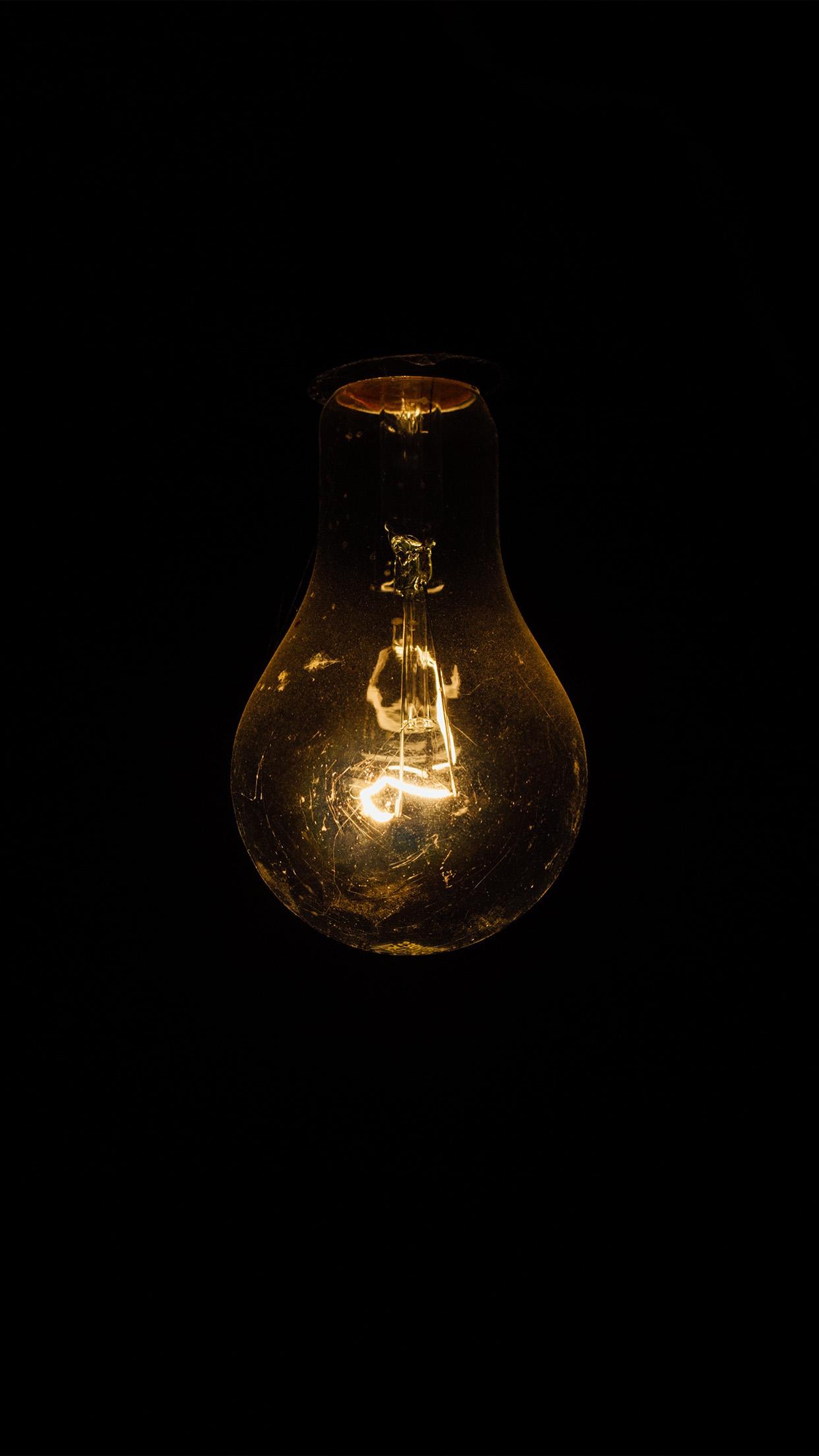 Incandescent Light Bulb Close Up Dark iPhone 6 HD Wallpaper HD 1242x2208