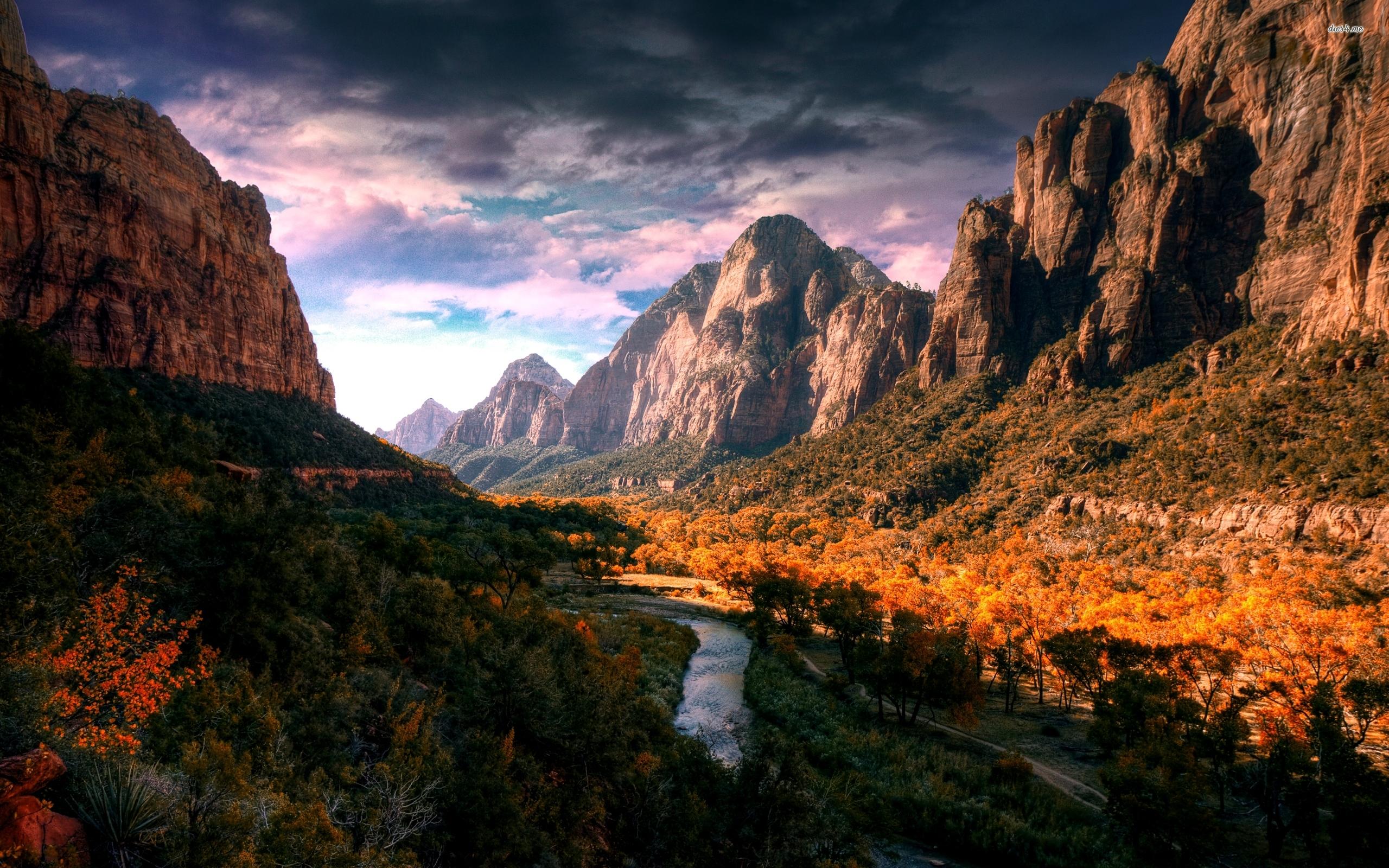 Zion National Park Desktop Wallpaper Wallpapersafari