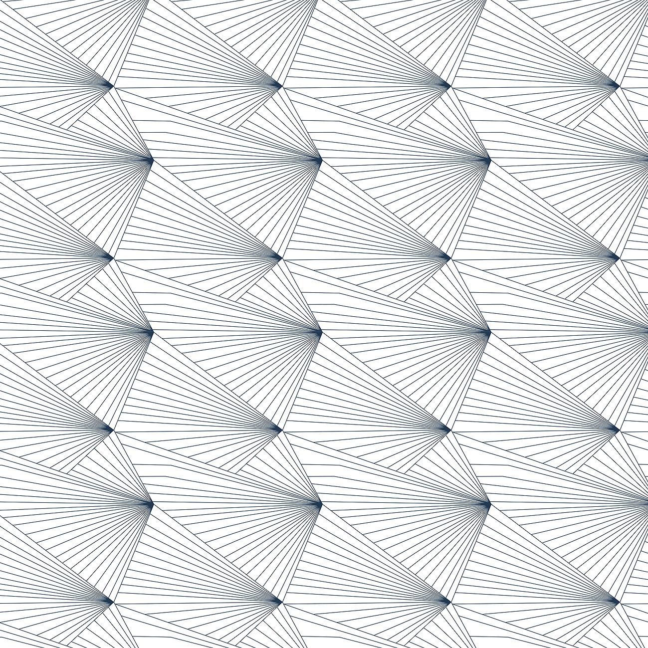 Erica Wakerly Fan navywhite Wallpaper 1299x1299