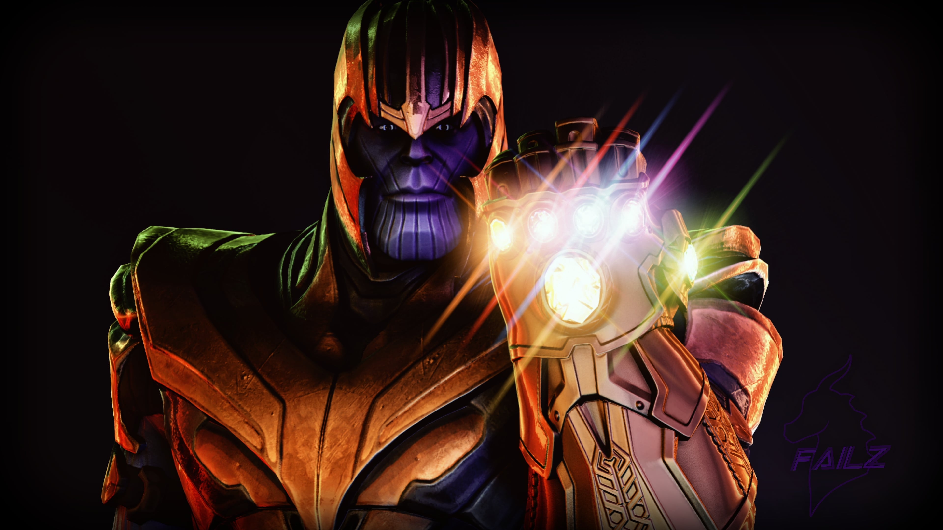 Thanos Infinity Gauntlet Fortnite Battle Royale 4076 Wallpapers 3840x2160