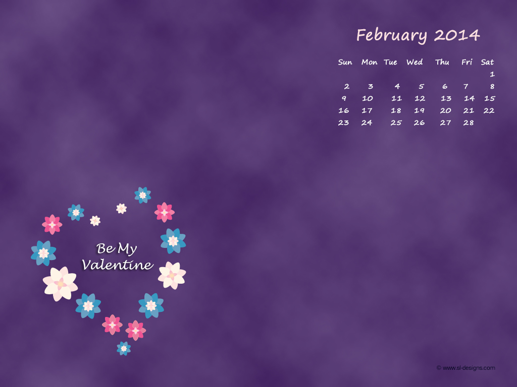 Top Desktop Wallpaper Calendar February Images for Pinterest 1024x768