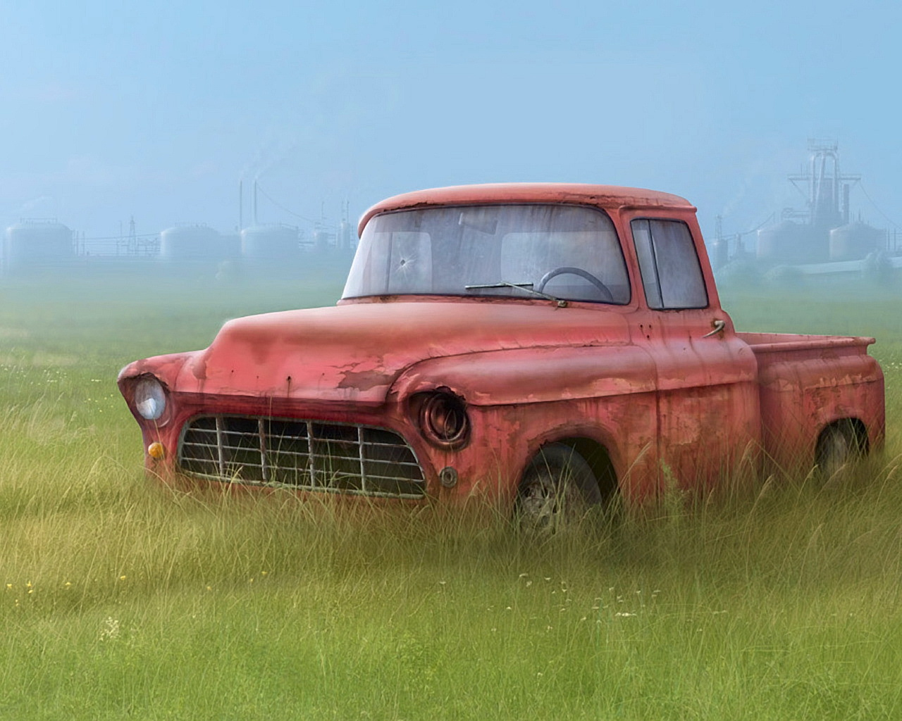 Old Car In The Grass   1280x1024   54 1280x1024