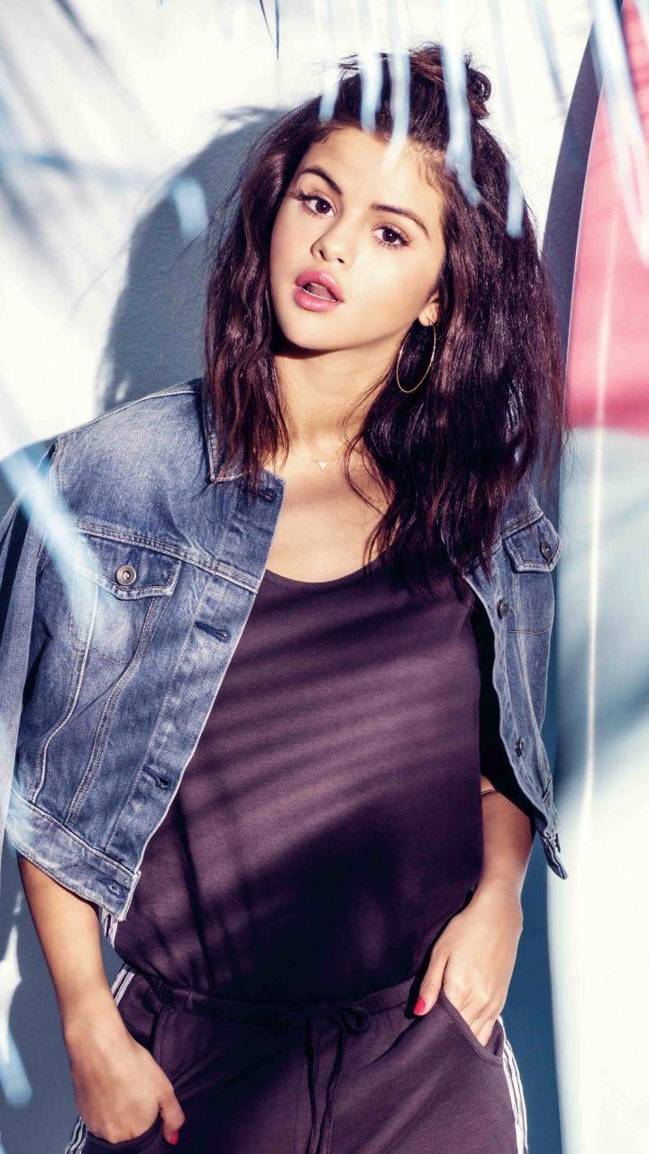 Selena Gomez Adidas Neo brunette 720x1280 wallpaper 720x1280
