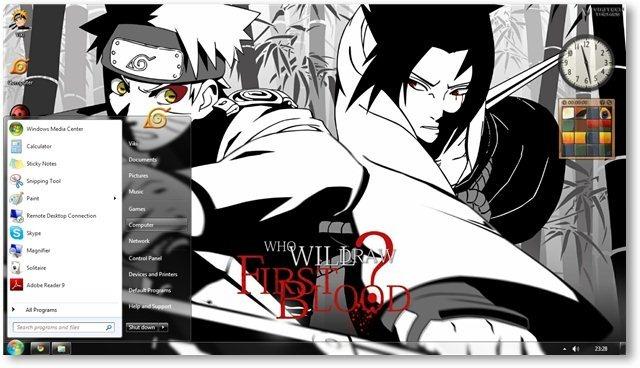 Wallpapers Naruto Shippuden Wallpaper And Windows 7 Theme 640x368