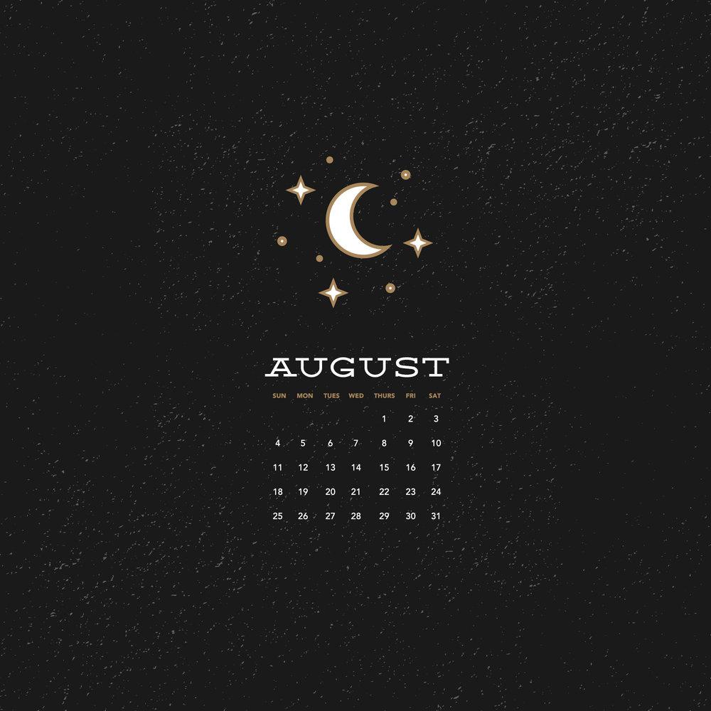 Wallpaper for August 2019 Six Leaf Design Logo Branding 1000x1000