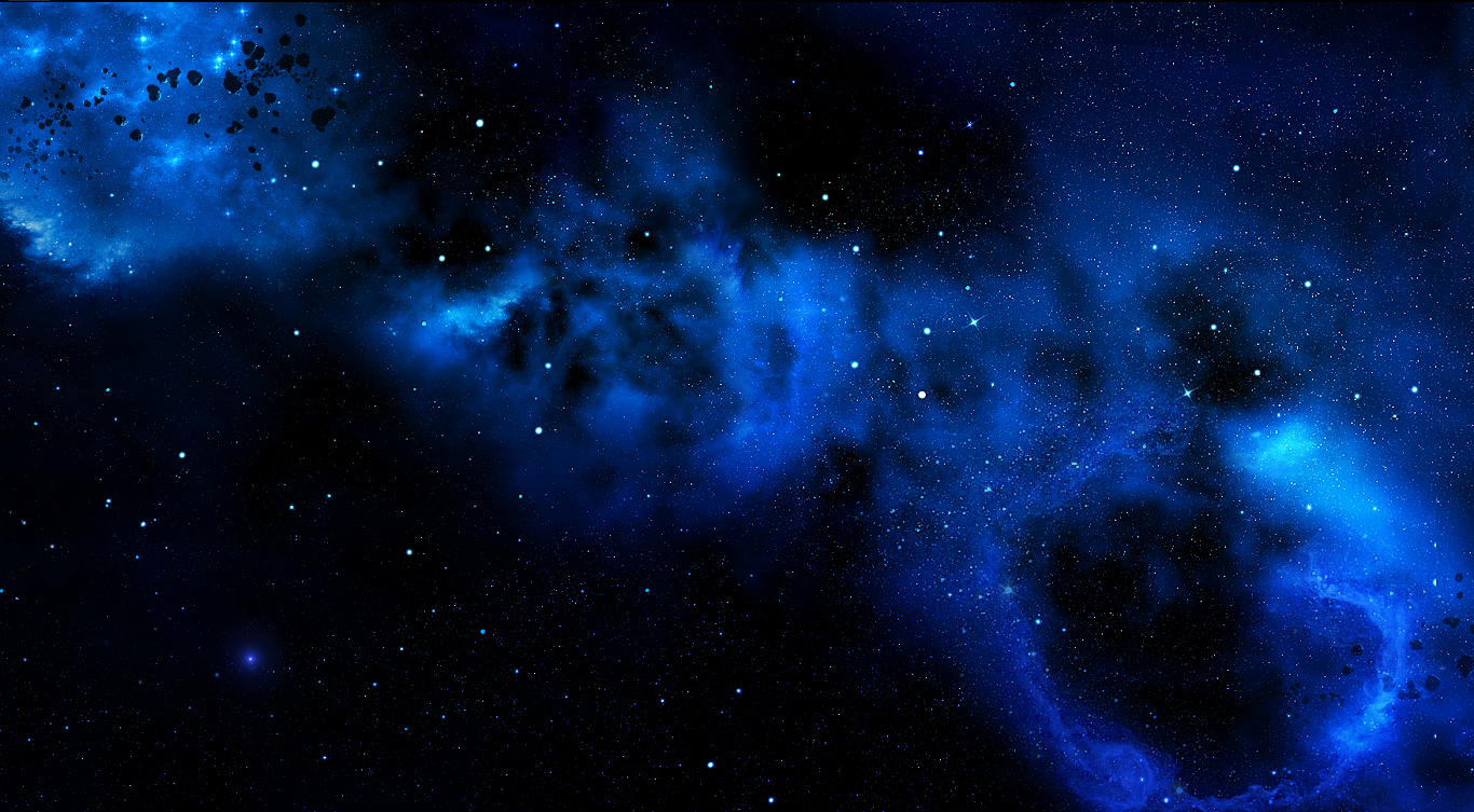 Black And Blue Stars Backgrounds Blue Galaxy Wal...