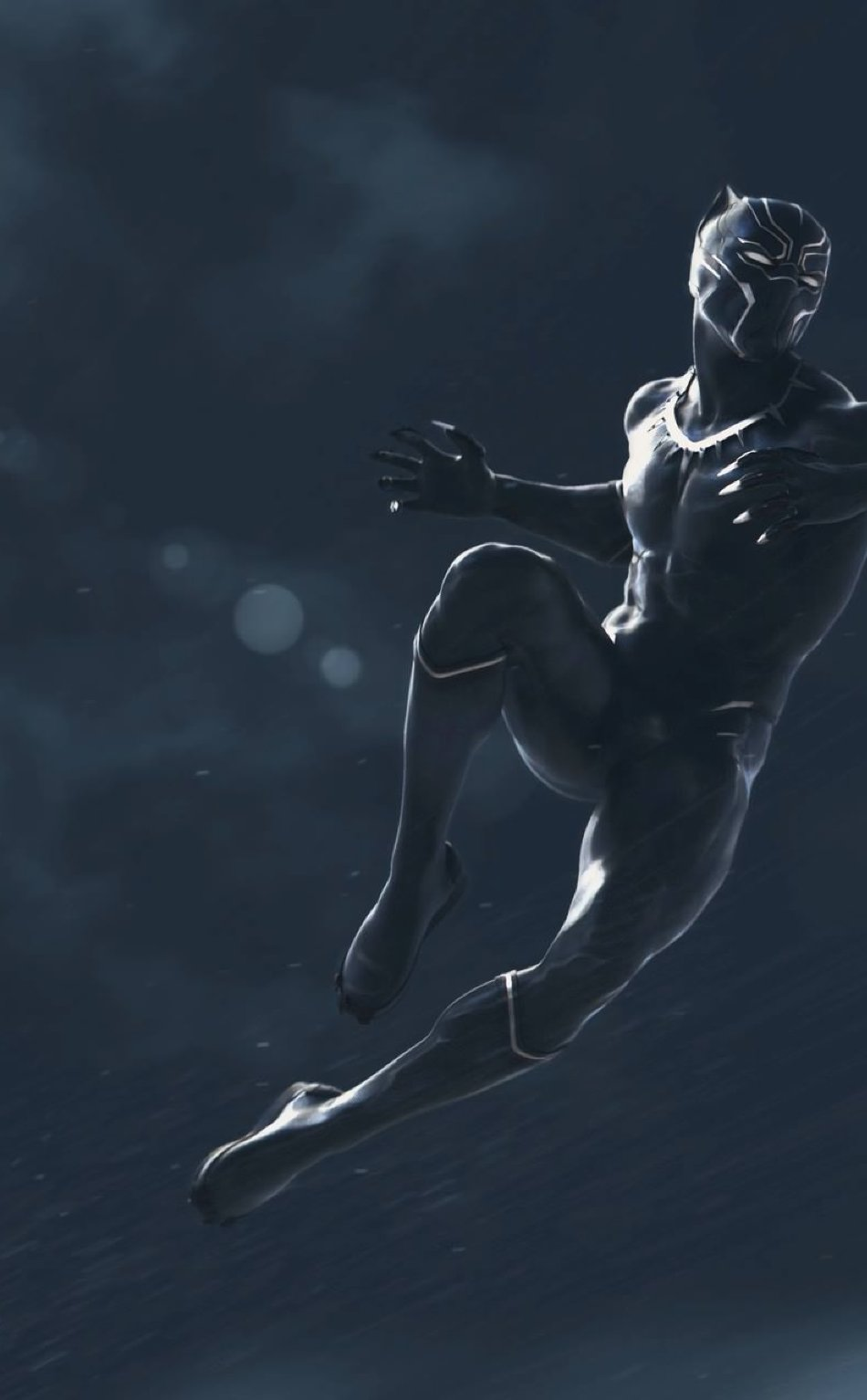 Black Panther Marvel Movie Full HD Wallpaper 950x1534