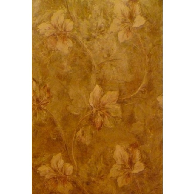 LEAF GOLD AND RED ON VINE WITH SHEEN WALLPAPER   All 4 Walls Wallpaper 650x650