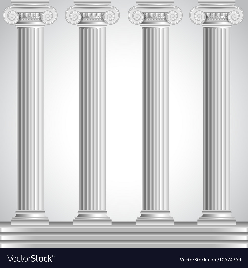 Roman columns isolated on white background Vector Image 1000x1080