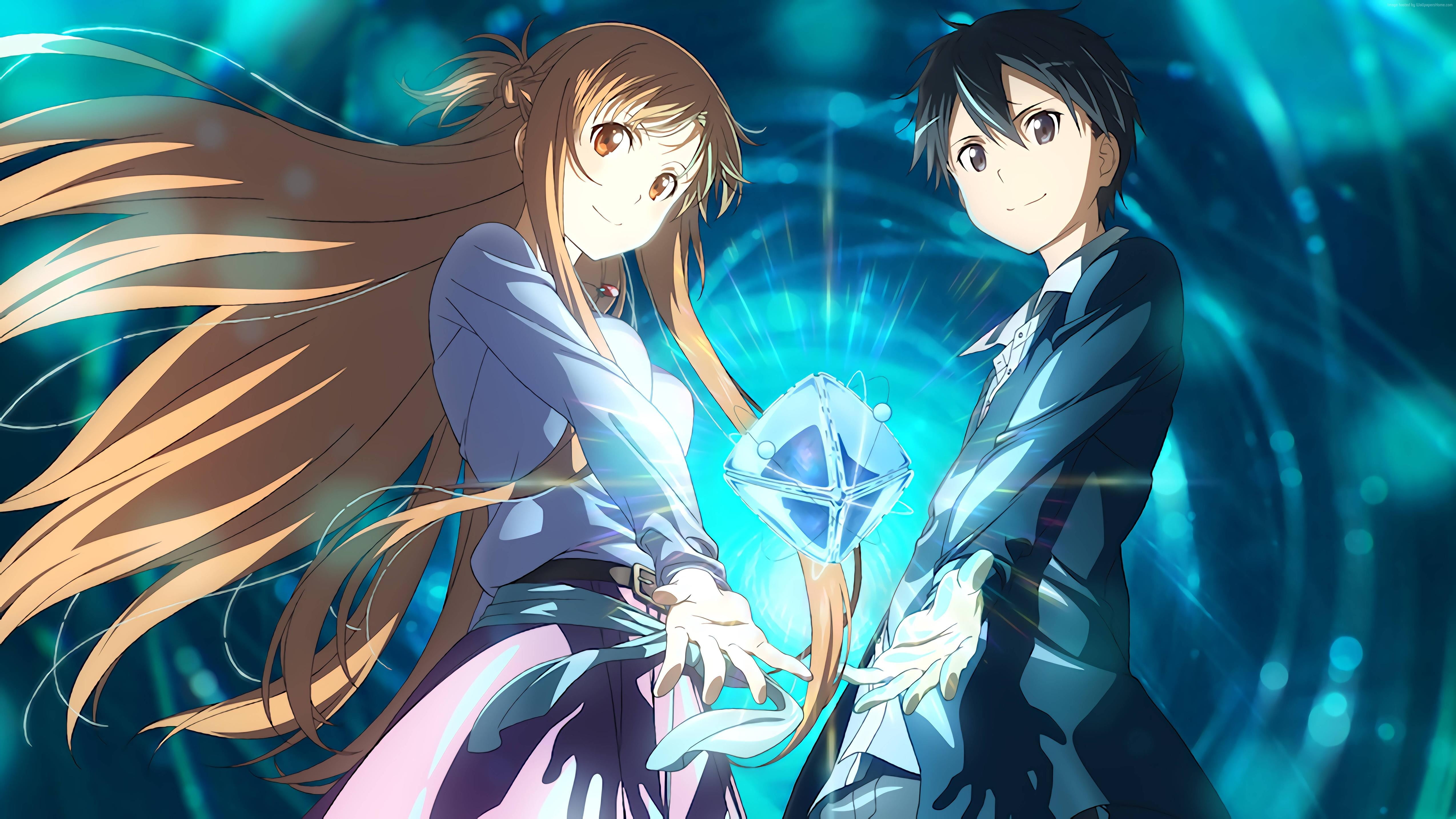 Foto Kirito Dan Asuna 24+] kirito and asuna wallpapers on wallpapersafari