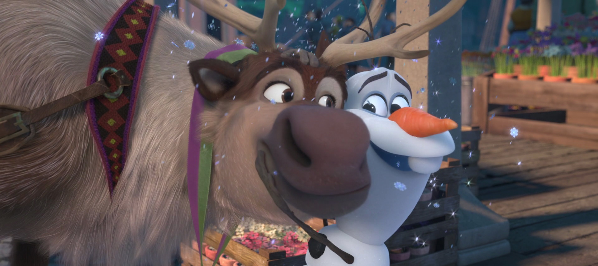 Olaf and Sven enjoying summer together during the epilogue 1920x856