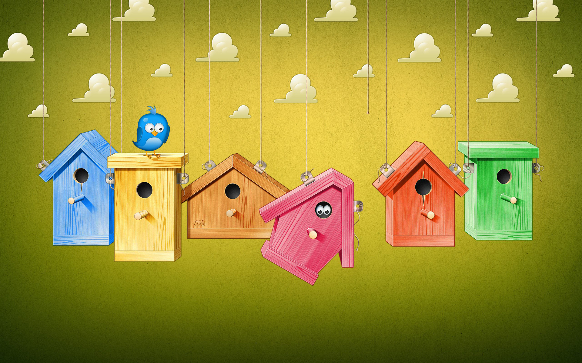 cartoon wallpaper bird house colorful HD Wallpapers 1920x1200