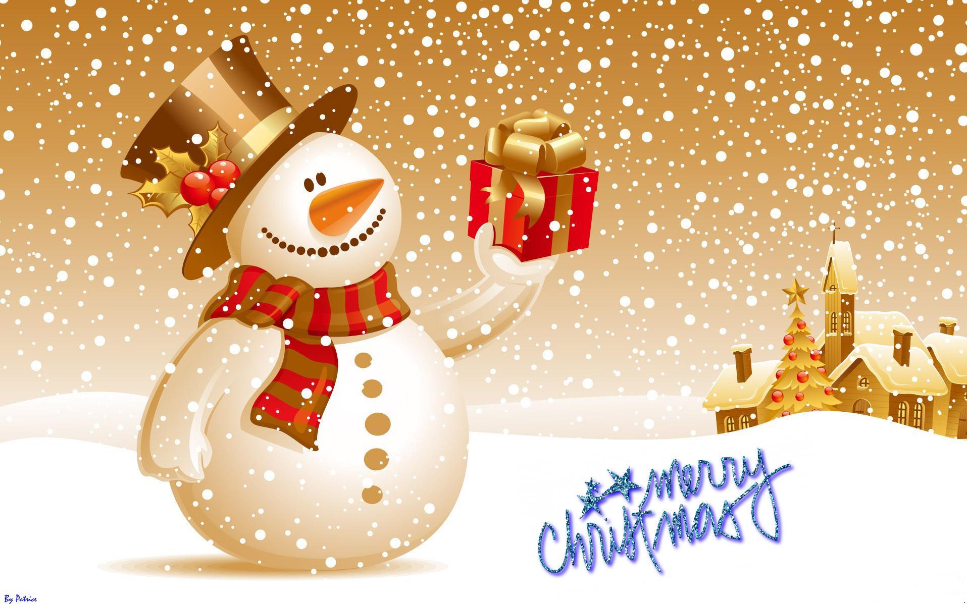 Cute Snowman Merry Christmas Images Wallpaper 7426 Wallpaper computer 1915x1197