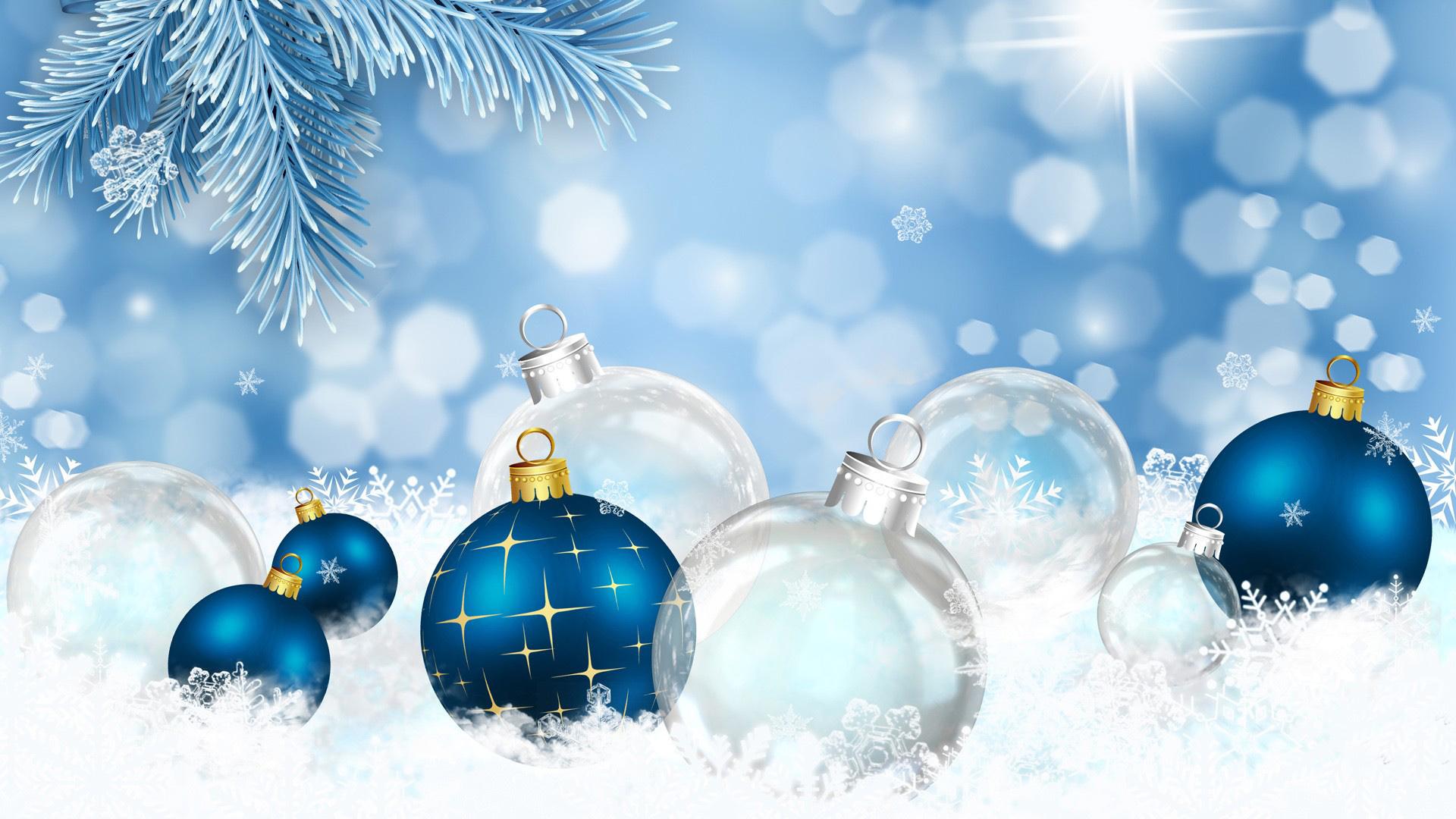 Blue Christmas Backgrounds - WallpaperSafari