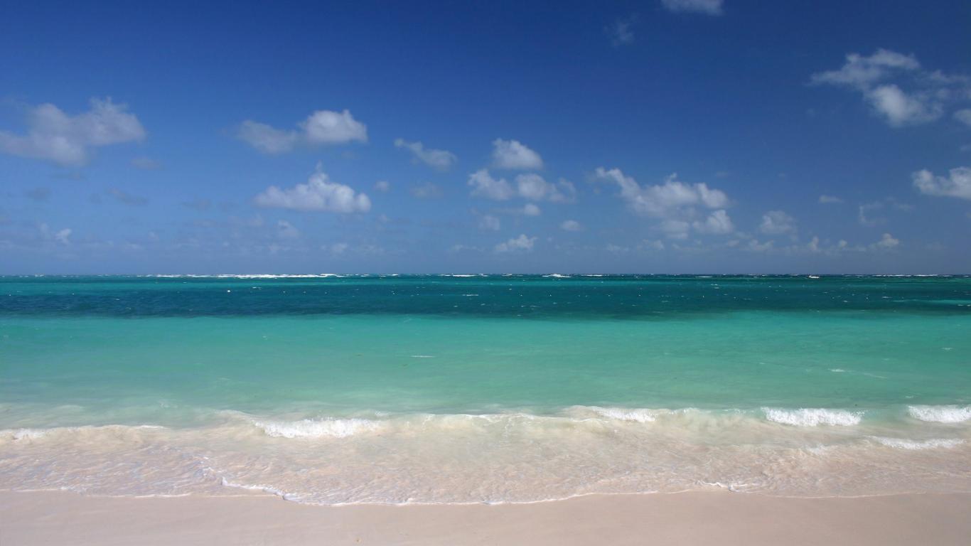 nature ocean sands water beach sky 1366x768