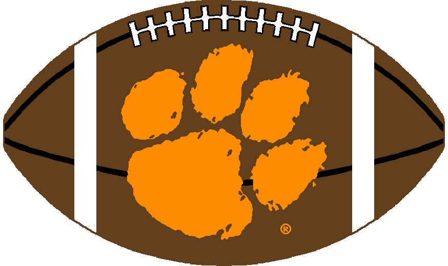 Pin Clemson University Tiger Paw Logo 874x520
