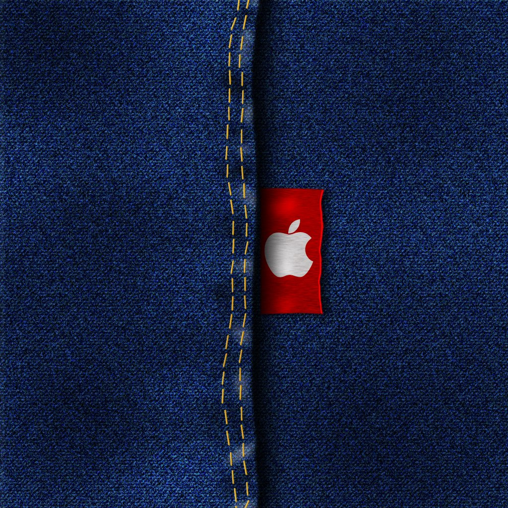 iPad Wallpaper Apple Jeans day 115 365 Days of Design 1024x1024