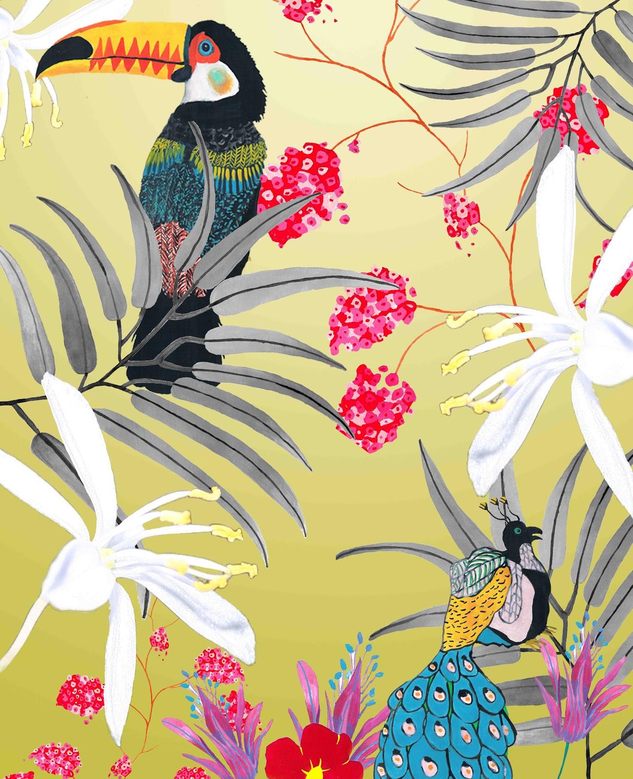 Coghlan Textiles Sample Development Ideas  Tropical Wallpaper 1300x1600