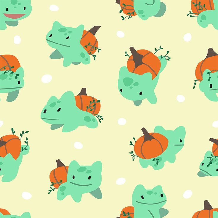 Pumpkin bulba pattern to use bulbasaur cute background 736x736
