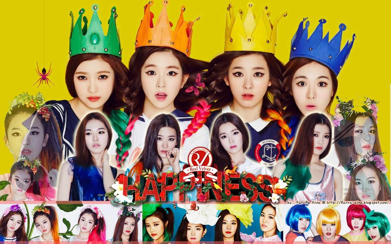 Free Download Pop Lover Red Velvet Happiness Wallpaper