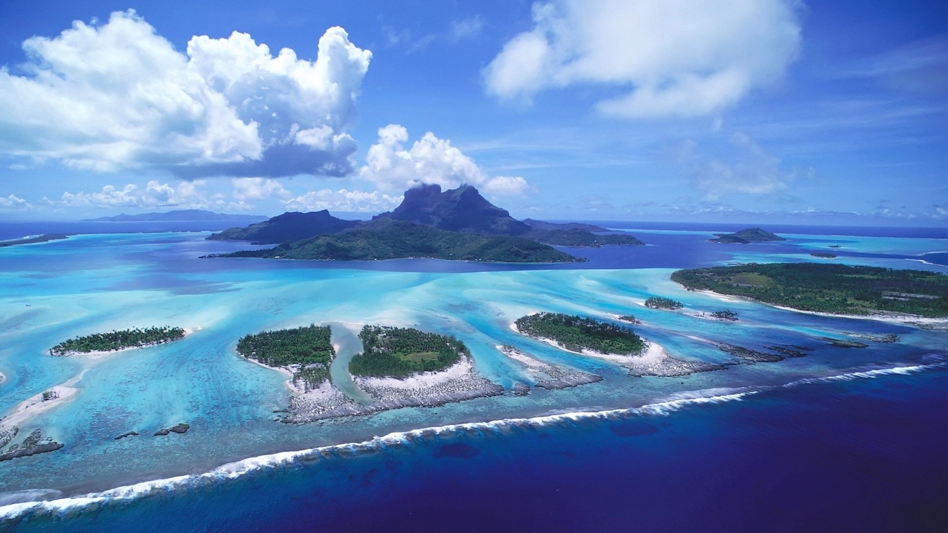 Hd 1920x1080 Cool Sea Islands Desktop Wallpapers Backgrounds 1920x1080