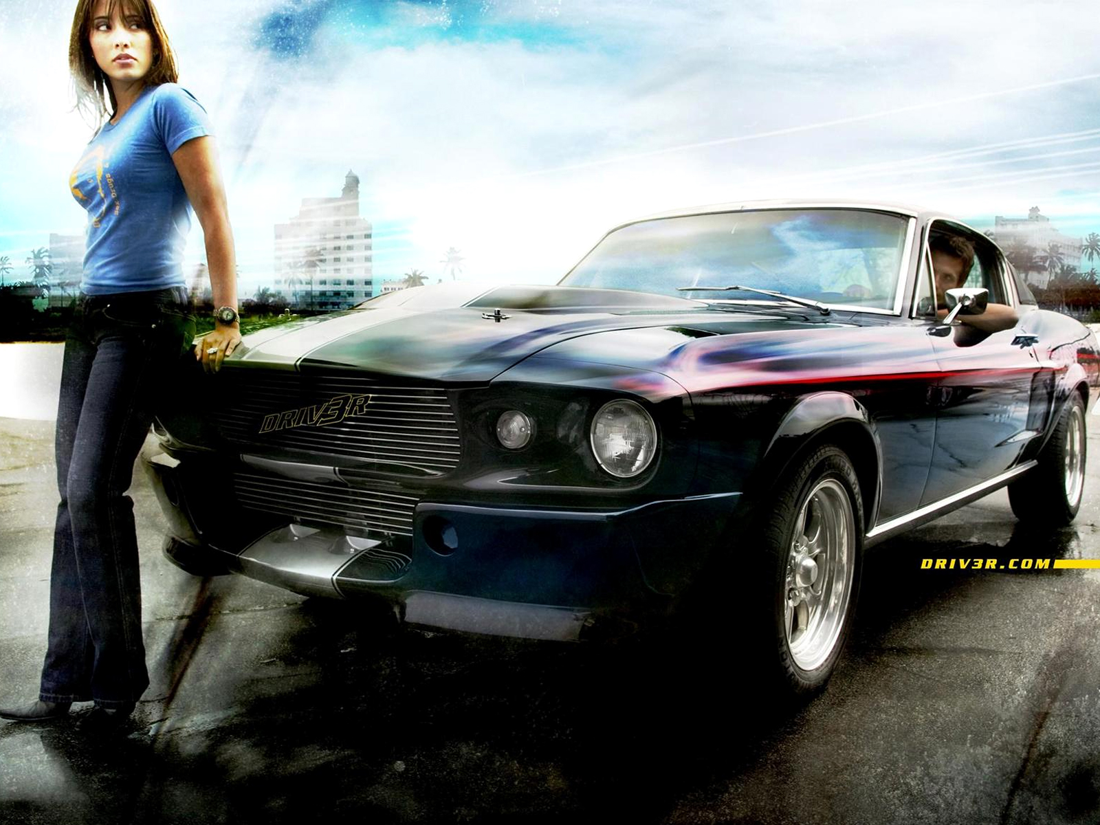Beautful PC Wallpapers USA Cars Ads With Girls 1600x1200