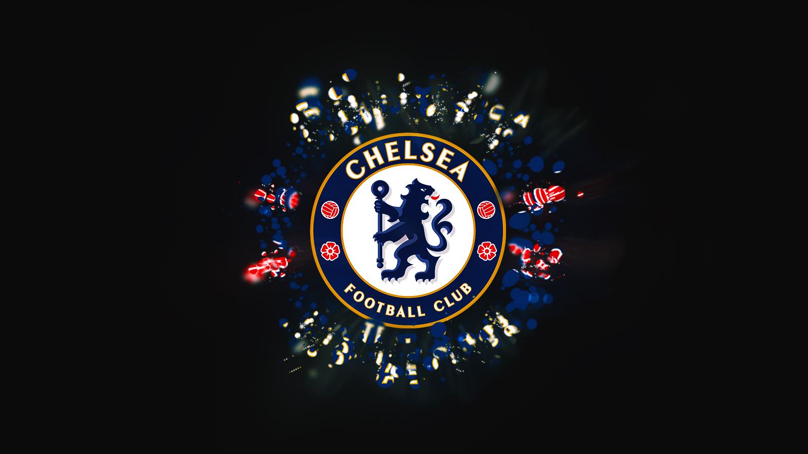Gallery In Dark Background Chelsea FC Golden Blue Wallpaper HD 1600x900