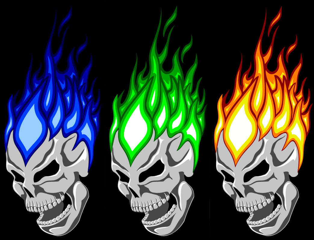 Flaming Skull by bliNdmiNds 1043x800