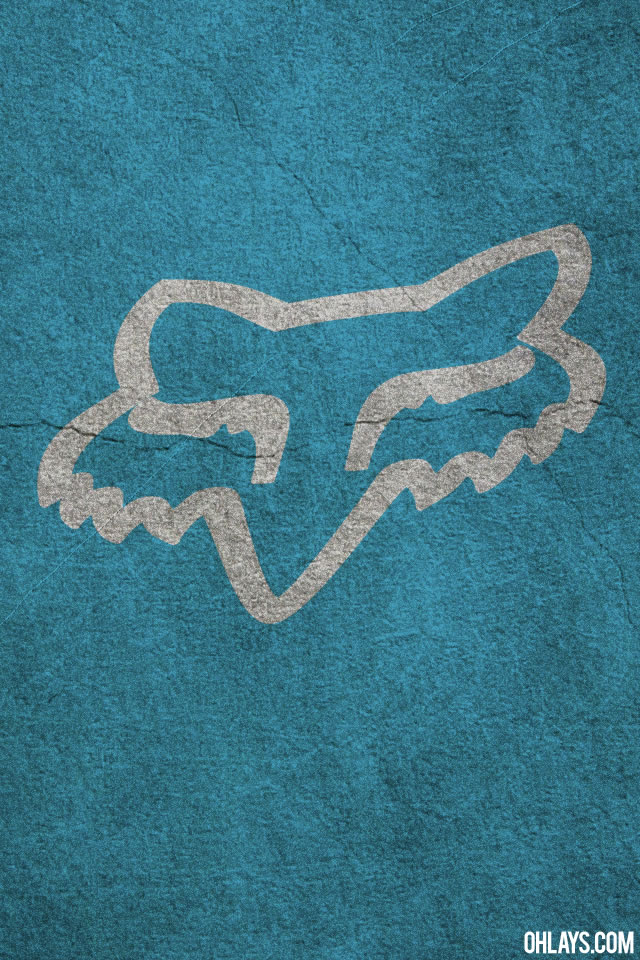 Blue Fox Racing Logo Background Fox iphone wallpaper 640x960