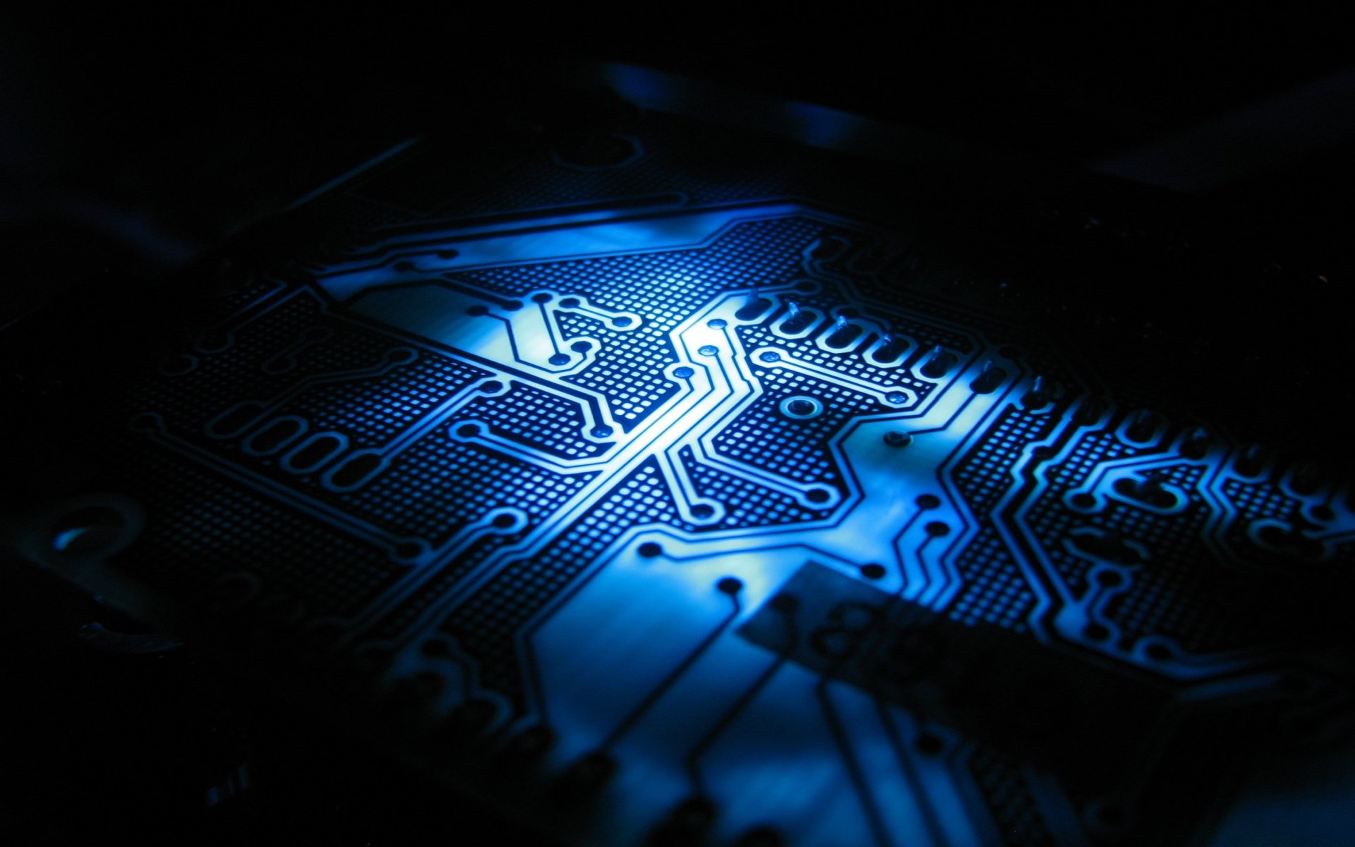 Electronic Devices tech blue abstract line metal detail wallpaper 1920x1200