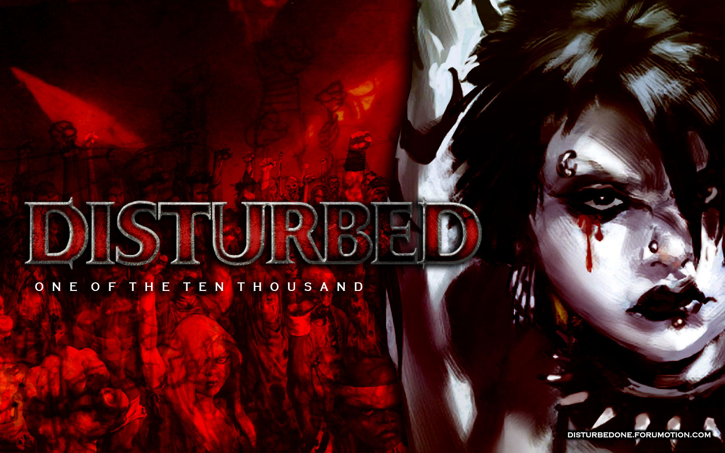 Ten thousand fist by disturbed against