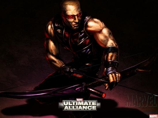 Marvel Ultimate Alliance Hawkeye Marvel Heroes Games Wallpapers 550x412