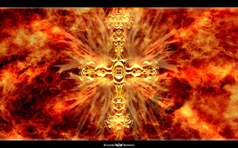 evil design Cross In Hell Abstract 3D and CG HD Desktop Wallpaper 800x500