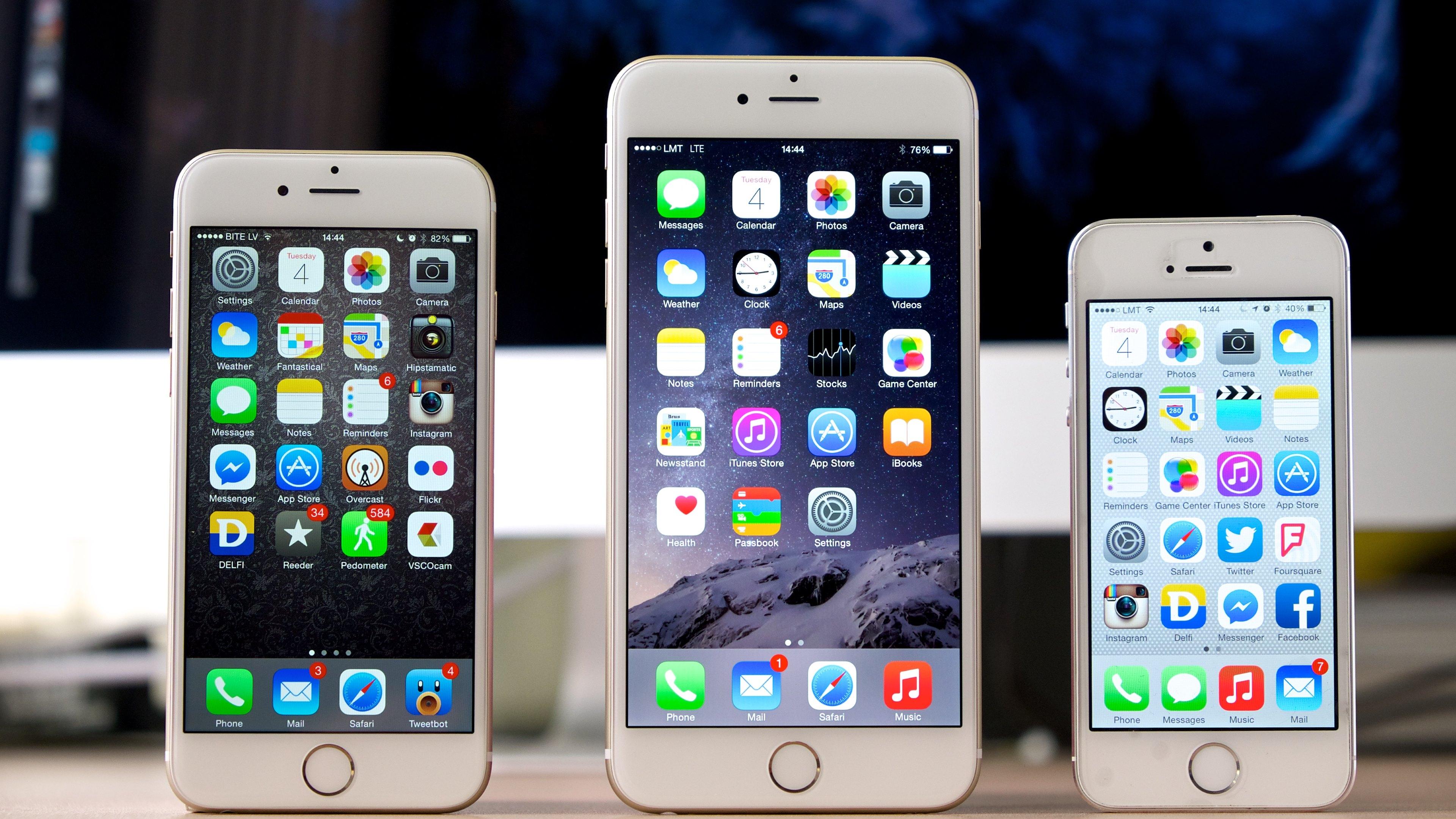 iPhone 6 vs iPhone 6 Plus vs iPhone 5S   Wallpaper 3840x2160