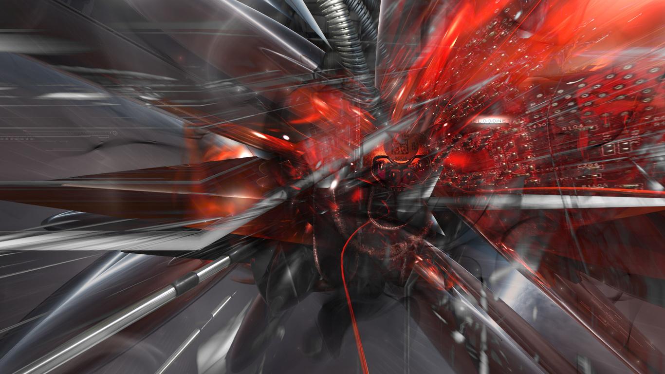 Red techno wallpaper wallpapersafari - Cyber wallpaper ...