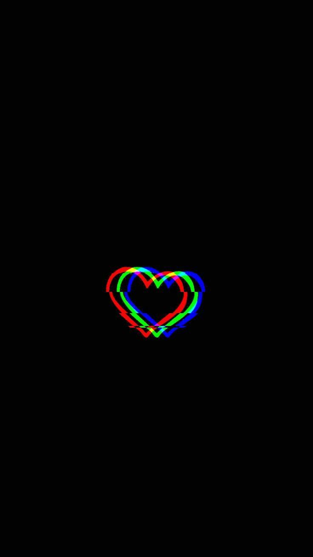 Glitched Heart   Glitched heart planodefundo Rozet tasarm 736x1309
