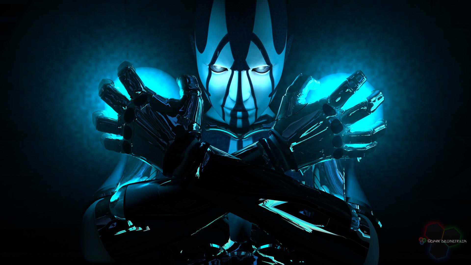 Background Robot Bluefondo pantalla Robot Bluewallpaper Robot Blue 1920x1080