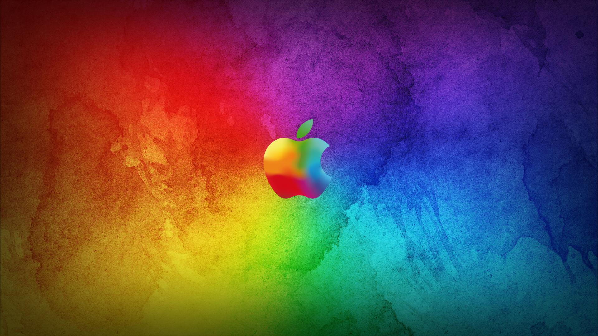 Apple Mac os tech computers logo symbal color wallpaper 1920x1080 1920x1080