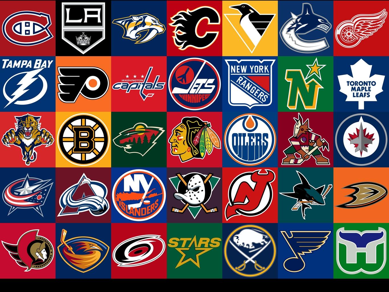 Nhl hockey logos