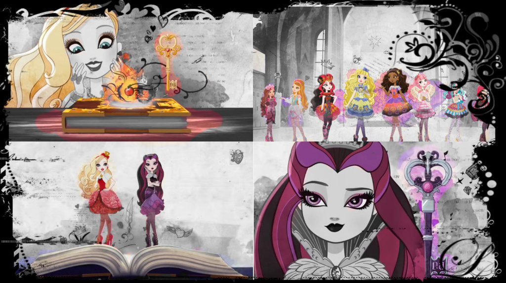 this is a wallpaper collage i made of Ever After High using pixlrcom 1024x573